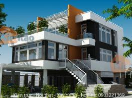 Bản vẽ thiết kế biệt thự 3 tầng đẹp, sang trọng