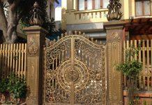 Cửa cổng sắt phong cách cổ điển