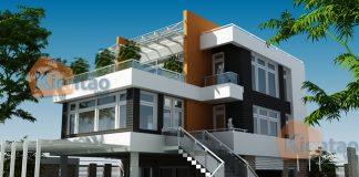 bản vễ thiết kế biệt thự 3 tầng 15x20