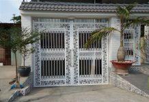 Cổng sắt vuông mỹ thuật cho nhà biệt thự