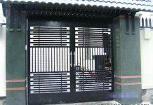 Mẫu cổng sắt 2 cánh đơn giản cho nhà phố 24
