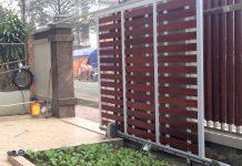 Cửa cổng sắt lùa trượt tự động đẹp, hiện đại 3