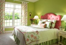 Sơn tường phòng ngủ màu Cam