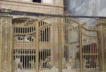 cổng sắt 4 cánh