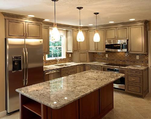 Lựa chọn đá hoa cương lát bếp phù hợp với các nội thất xung quanh để đem lại tính thẩm mỹ cao hơn