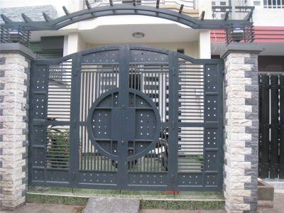 Cổng sắt đẹp cho nhà ống