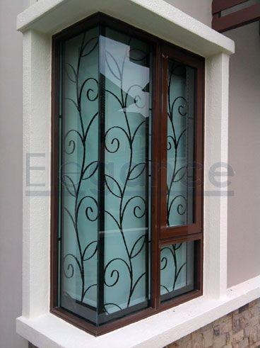 Mẫu song cửa sổ sắt hoa văn