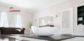 Chiếc bồn tắm nổi bật, hệ thống vòi nước thông minh cho người sử dụng những phút giây thư giãn