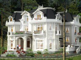 Mẫu 3 - Sơn nhà kiểu Pháp màu trắng