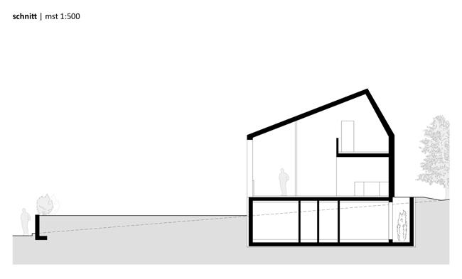 Thiết kế nổi bật của mẫu nhà cấp 4 này  chính là khu vực tầng hầm của ngôi nhà. Chủ nhà tận dụng nơi này làm không gian sinh hoạt riêng của của gia đình.