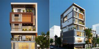 Mẫu nhà phố 5 tầng hiện đại kết hợp kinh doanh