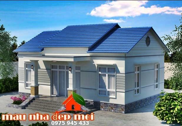 Mẫu nhà mái ngói 3 gian hiện đại