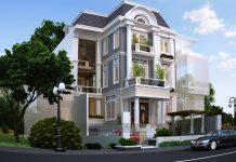 Màu sơn nhà kiểu Pháp xám ghi