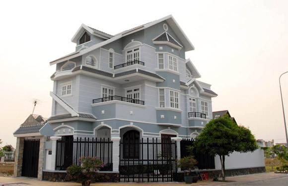 Mẫu 2 - Màu sơn nhà kiểu Pháp xám ghi