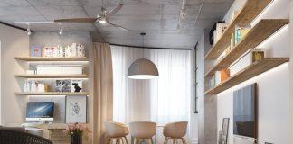 Có thể thiết kế phòng khách phối hợp với các nguyên vật liệu