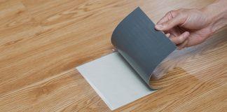 Sàn nhựa giả gỗ có keo dán