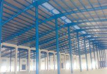 Mái tôn nhà xưởng khung thép giá rẻ