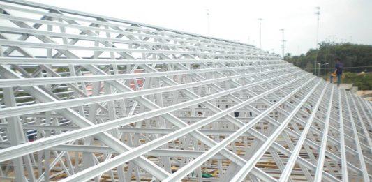 Mái tôn nhà xưởng khung thép