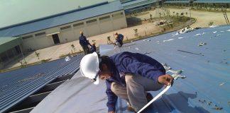 Thi công lợp mái tôn nhà xưởng khung thép