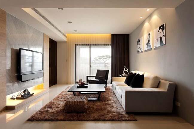 Trang trí nội thất phòng khách nhỏ hiện đại, đơn giản