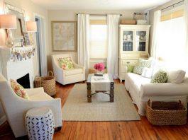 Trang trí phòng khách nhỏ hẹp đơn giản