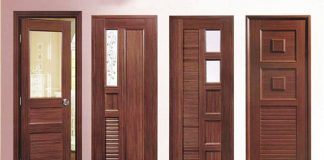 Mẫu cửa gỗ phòng ngủ bán cổ điển