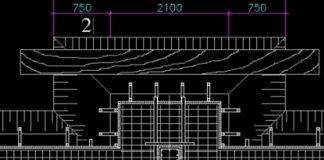 Bản vẽ CAD biện pháp thi công ván khuôn móng