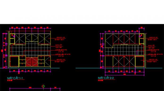 Bản vẽ CAD các mẫu tủ bếp