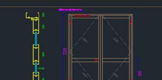 bản vẽ CAD cửa nhôm kính full thông số kỹ thuật