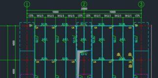 Bản vẽ CAD kết cấu sàn cáp điện nhà ga cát linh hà đông