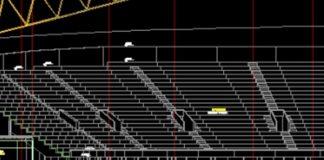 Bản vẽ CAD kết cấu sân vận động