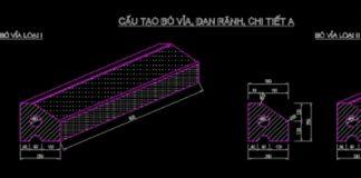 Bản vẽ CAD kết cấu vỉa hè