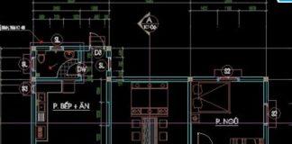 Bản vẽ CAD nhà biệt thự 1 tầng