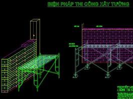 Bản vẽ CAD phương pháp thi công tường