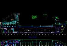 Bản vẽ CAD tàu chở hàng