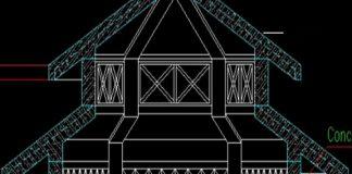 Bản vẽ CAD thiết kế chòi nghỉ bát giác