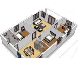 Bản vẽ CAD thiết kế nhà 1 tầng