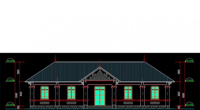 Bản vẽ CAD thiết kế nhà ăn công nhân