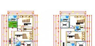 Bản vẽ CAD thiết kế nhà ống