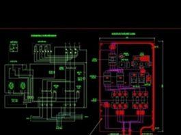 Bản vẽ CAD tủ điện chiếu sáng